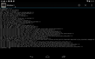 android terminal emulator dd to SD card system backup