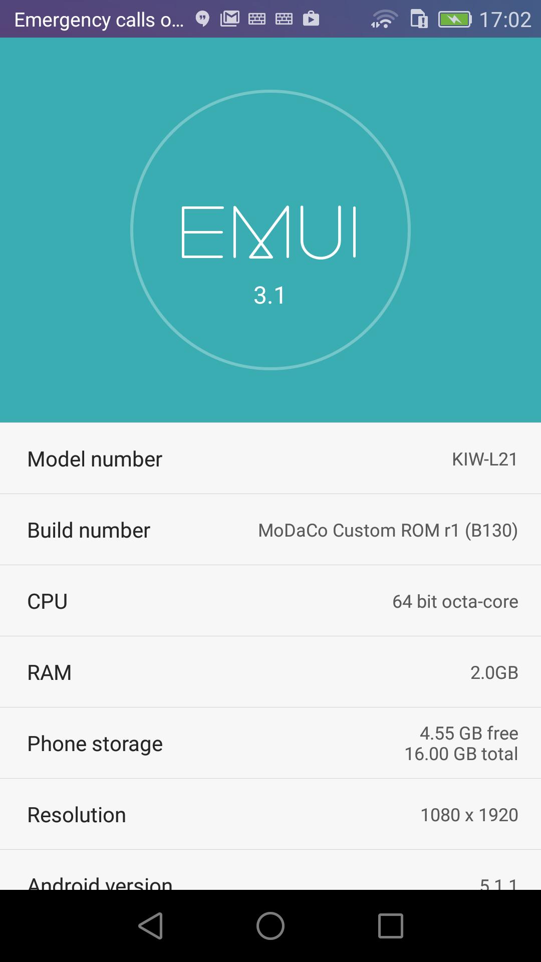 r7 - MoDaCo Custom ROM [EMUI style] - Honor 5X KIW-L21