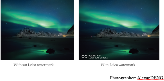 Huawei P10 - Using watermarks to bring your images to life